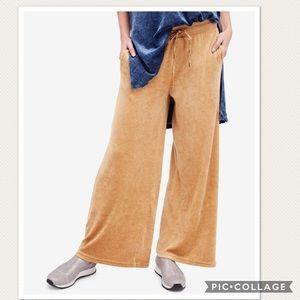 NWOT Free People Velvet Wide Leg Pants